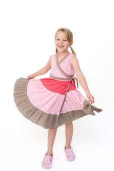 Free Young Girl Twirling Stock Image - 10154841