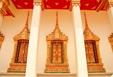Free Traditional Thai Style Church Window Stock Images - 10155134