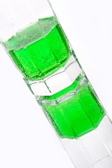 Free Green Soda In A Glass Royalty Free Stock Photos - 10155418