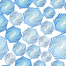 Free Seamless Blue Whirl Pattern Stock Image - 10155471