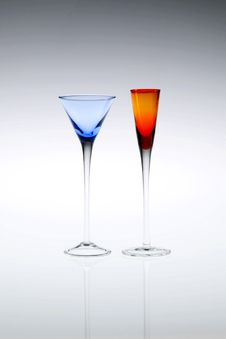 Free Pair Of Cordial Glasses Stock Images - 10155644