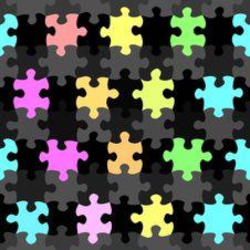 Free Vibrant Jigsaw Pieces Pattern Stock Photo - 10156150