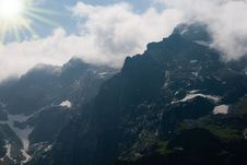 Free Mountain Tops In Clouds Royalty Free Stock Images - 10157709