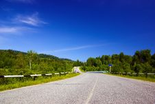 Free Road With Bridge In The Woody Hills Royalty Free Stock Photography - 10158117
