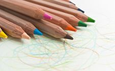 Free Colour Pencils Stock Images - 10158624