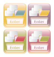 Free Our Shiny Enter Labels With Buttons Folders And Do Royalty Free Stock Photography - 10159697