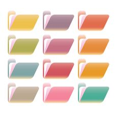 Free Glossy Nice And Clean Folders Set Stock Image - 10159711