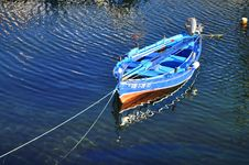 Free The Blue Boat Royalty Free Stock Image - 101539716