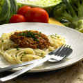 Free Spaghetti With Minced Meat Royalty Free Stock Photos - 10163348