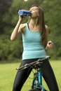 Free Thirsty Fitness Woman Stock Images - 10169804