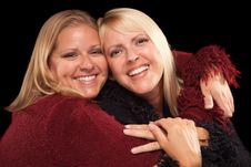 Free Two Beautiful Smiling Sisters Portrait Royalty Free Stock Photos - 10160198