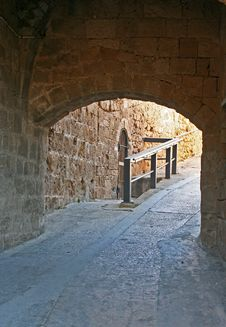 Jerusalem Arch And Road Royalty Free Stock Photo