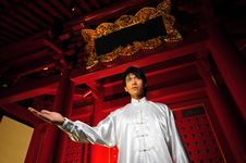 Free Young Asian Man In Traditional Clothing Royalty Free Stock Photo - 10161165