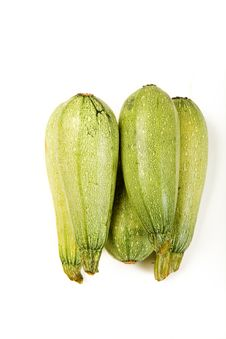 Isolated Summer Squash Stock Photography