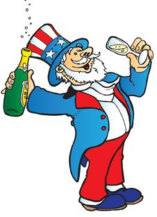 Free Uncle Sam Celebrates Royalty Free Stock Image - 10162986