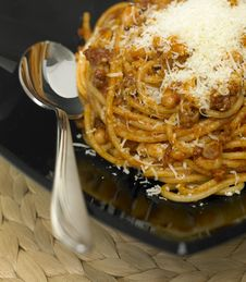Free Spaghetti With Minced Meat Royalty Free Stock Photo - 10163065