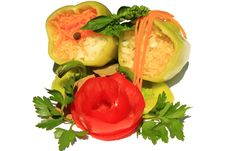 Free Stuffed Peppers Royalty Free Stock Photo - 10163265