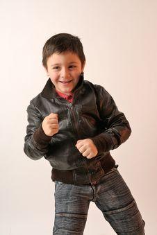 Boy With Jacket Royalty Free Stock Photo