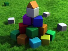 Free Colorful Cubes Stock Photo - 10164080