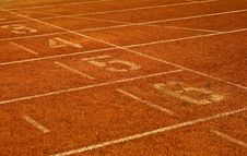 Free Running Track Royalty Free Stock Images - 10165079