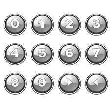 Free Gray Round Internet Button Collection Stock Photo - 10165390