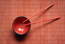 Free Bowl And Chopsticks Stock Image - 10165701