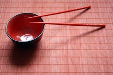 Free Bowl And Chopsticks Royalty Free Stock Photo - 10165725