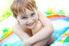 Free The Boy Bathes Stock Photos - 10166473
