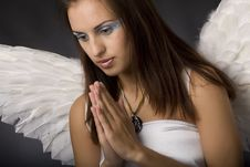 Free Pretty Young Angel Stock Photography - 10166492