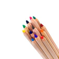 Free Colored Pencils Isolated Stock Photos - 10166533