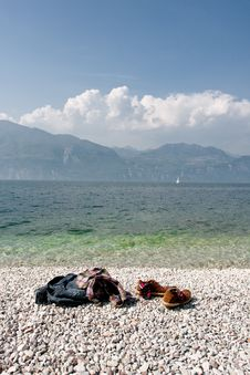 Free Beach On A Lake Stock Images - 10166714