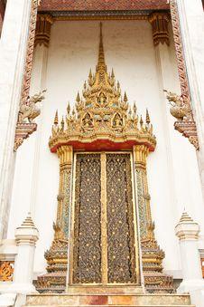 Free Traditional Thai Style Church Window Stock Photo - 10166840