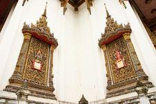 Free Traditional Thai Style Church Windows Royalty Free Stock Photo - 10166995