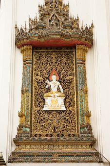Free Traditional Thai Style Church Window Stock Image - 10167151