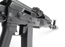 Russian Rifle Kalashnikov Ak74m Royalty Free Stock Image