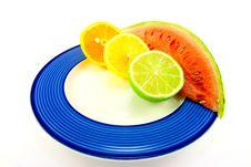 Free Watermelon With Citrus Halves Stock Photo - 10167880