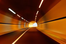 Free Highway And Tunnel Royalty Free Stock Image - 10168096