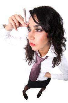 Free Thinking Businesswoman Royalty Free Stock Image - 10168326