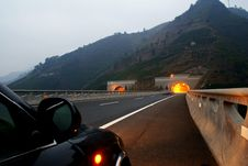 Free Highway And Tunnel Stock Image - 10168541