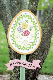 Free Happy Spring Garden Sign Stock Images - 10169024