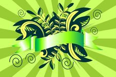 Free Green Floral Band Vector Royalty Free Stock Photo - 10169435