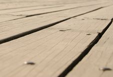 Old Faded Floor Boards Royalty Free Stock Images