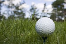 Free Golfball On Green Grass Royalty Free Stock Image - 10169736