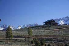 Mountain Log Home Stock Photography
