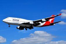 Free Quantas Airline Jumbo Boeing 747 Stock Image - 101607541