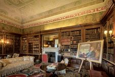 Free Harewood House The Spanish Library Royalty Free Stock Images - 101613839