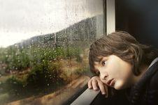 Free Rain Raining Window Child Royalty Free Stock Photos - 101613848