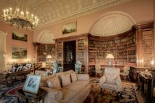 Free Harewood House The Main Library Royalty Free Stock Photo - 101613915