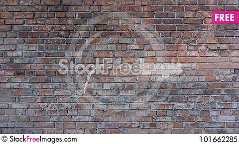 Free Old Brick Wall Royalty Free Stock Photo - 101662285