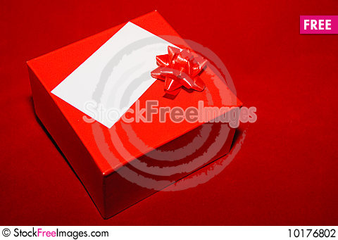 Free Red Gift Box Stock Photography - 10176802
